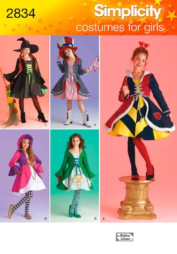 [Simplicity Sewing Pattern 2834 Girl Costumes, A (7-8-10-12-14)] (Patriotic Group Costumes)