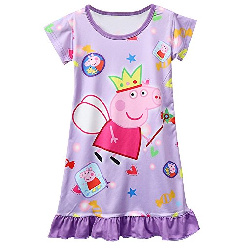Moebao Pig Pattern Dress with Girls' Skirt, Nightgown