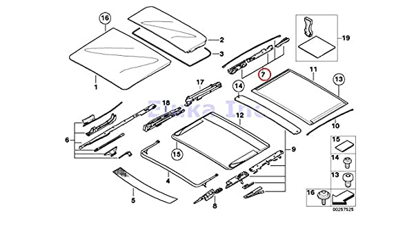 Amazon Com Bmw Genuine Panoramic Roof Sunroof Repair Kit For