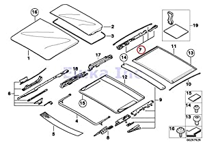 Amazon Com Bmw Genuine Panoramic Roof Sunroof Repair Kit