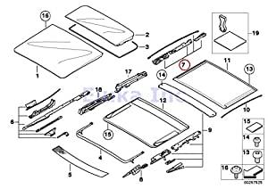2014 ford focus sunroof wiring amazon.com: bmw genuine panoramic roof sunroof repair kit for sunroof glass rear x5 3.0i x5 4.4i ...