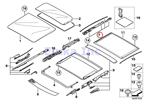Bmw Genuine Panoramic Roof Sunroof Repair Kit For Sunroof