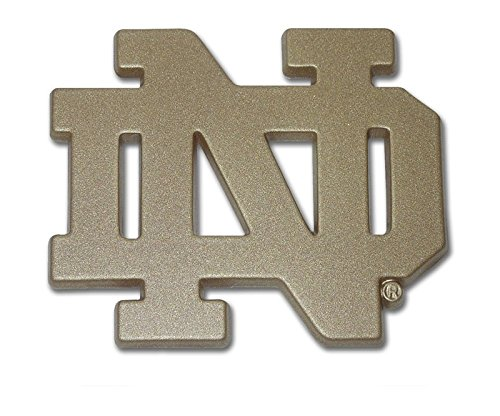- The University of Notre Dame METAL Auto Emblem - Many Different Colors Available! (Gold)