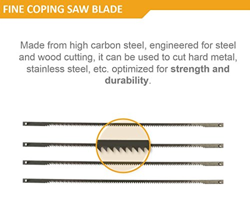Magic Saw Fine Coping Blade Original Korean (5 Units) designed for hard metals like steel by Amazing Tools (Image #3)