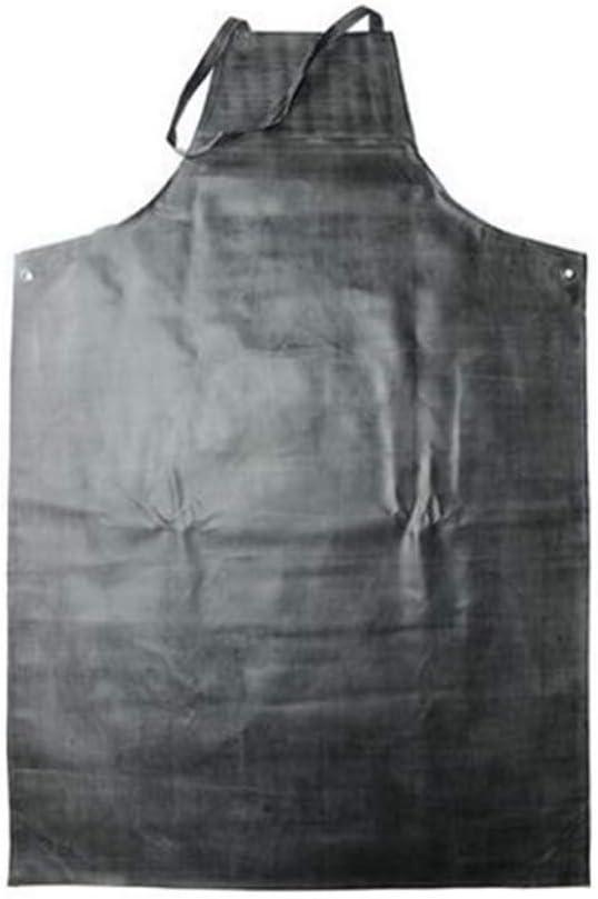Delantal de goma impermeable, Delantal de trabajo de protección a prueba de manchas y aceite resistente a ácidos Mejor para lavavajillas Laboratorio Carnicero Impresión