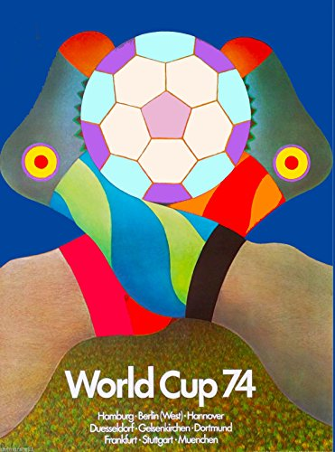MAGNET 1974 World Cup Soccer Football Germany Sports Travel Advertisement Magnet (Soccer 1974 Cup)