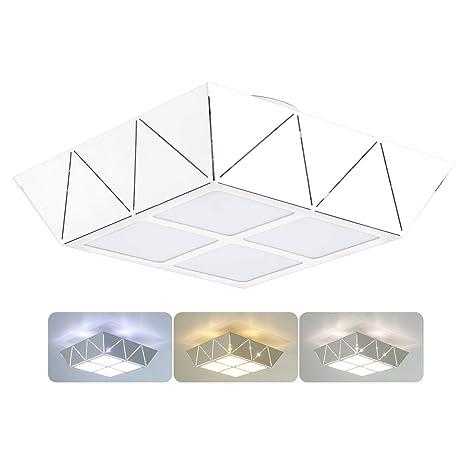 Amazon.com: Phenas - Lámpara de techo cuadrada LED, 20.00 ...