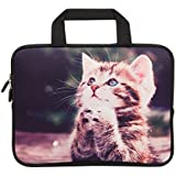 "Universal 7 - 9 inch Kid Tablet Sleeve Portable, Neoprene Carrying Sleeve Case Bag For 7"" 8"" 8.5"" 8.9"" 9"" Amazon Tablet,Fire HD 8,Tablet Notebook (Wish Cat)"