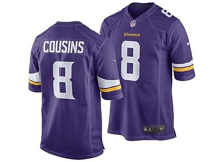 new concept 6d446 498b8 Amazon.com : NIKE Minnesota Vikings Kirk Cousins Men's NFL ...