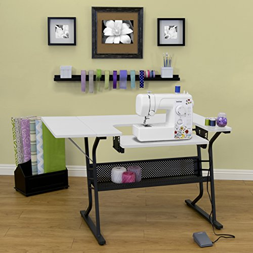 [US Stock] Anbeaut Home Indoor Adjustable Platform Sewing Machine Table Computer Desktop (Black White) -  LSG008125