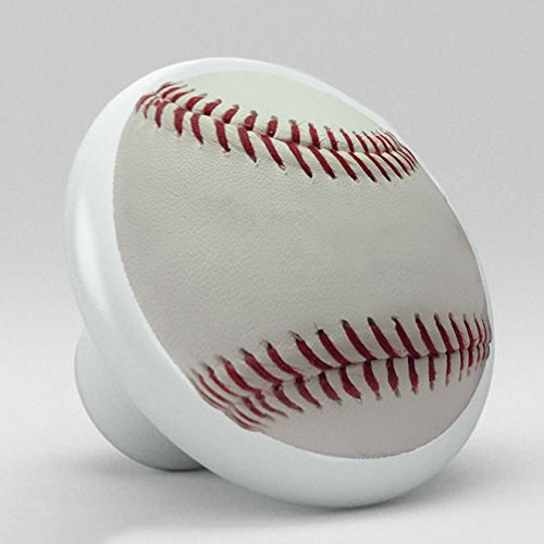 Sports Ceramic Porcelain Round Knobs (Baseball) Jessies Desings