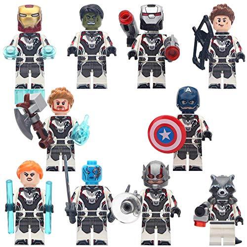 PETON Avengers Super Heroes Mini Figures Building Blocks Set 10 Psc - Super Heroes Minifigures Set with Accessories