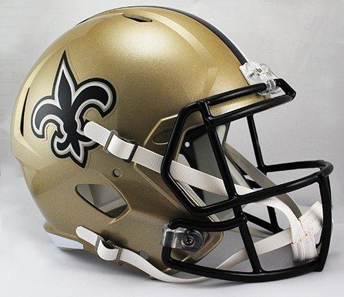 New Orleans Saints Riddell Full Size Speed Deluxe Replica Football Helmet - New in Riddell Box