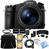 Sony DSC-RX10M III Cyber-shot 4K Video 20.1MP Digital Camera 64GB Memory Card Bundle includes Camera, Bag, 2 64GB SDXC Memory Cards, 72mm UV Filter, Batteries, Charger, Beach Camera Cloth and More