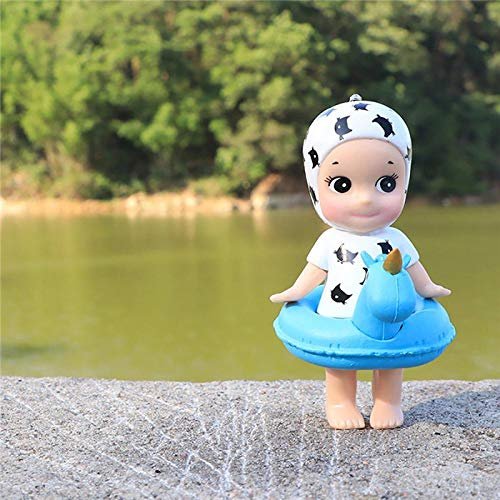 Car Ornament Cute Unicorn Swimming Ring Angel Doll Lovely Automobiles Internal Dashboard Decoration Toys Kids Gifts Accessories Gypsophila