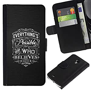 KingStore / Leather Etui en cuir / Samsung Galaxy S4 Mini i9190 / Amour de Dieu Christian Grey