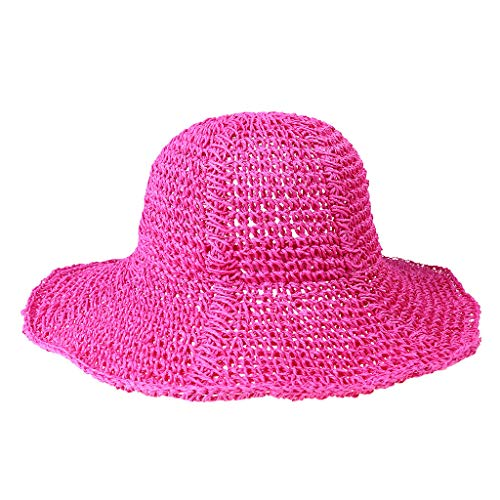 663 Baseball - Spring and Summer Women Sunshade Handmade Crochet Foldable Straw Hat Under 5 Dollars Hats for Women Baseball caps