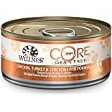 Wellness CORE Grain Free Chicken & Turkey Natural Wet Canned Cat Food, 5.5-Ounce Can (Pack of 24)