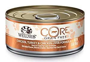 Wellness Core Natural Canned Grain Free Wet Pate Cat Food