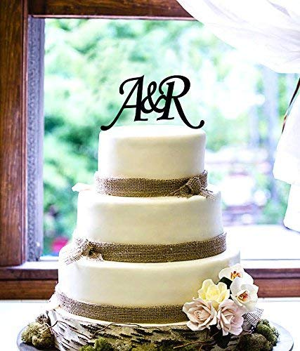 (Personalized Cake Topper - Initials )