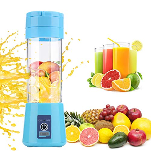 Fruit Cups Personal Blender Juicers Portable Blender Mini Blender Easy to Clean USB Rechargeable Gifts for Elderly Gravida Travel Camping Office Kitchen Vegetables Food Crusher Shakes and Smoothies
