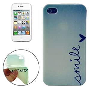SMILE Pattern TPU Protective Case for iPhone 4 / 4S