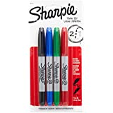 Sharpie Twin Tip Fine Point and Ultra Fine Point Permanent Markers, 4 Colored Markers (32174PP)
