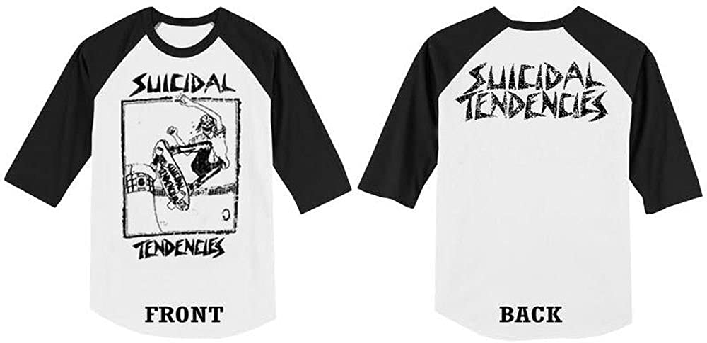 Suicidal Tendencies Official Baseball Jersey 3//4 Lance Skater Raglan Softball