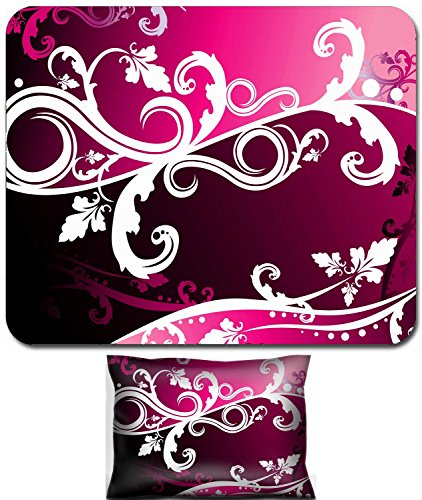 Luxlady Mouse Wrist Rest and Small Mousepad Set, 2pc Wrist Support design vector floral illustration abstract art beautiful background IMAGE: 2941682
