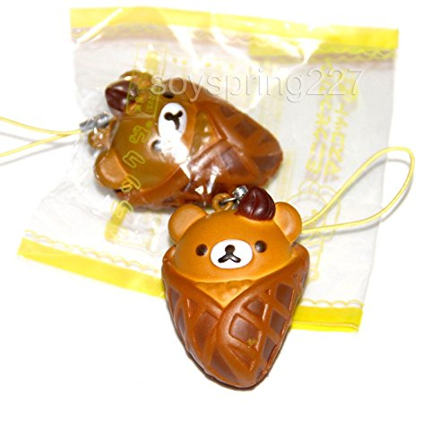 HOT Kawaii Waffle Wrap Choc Icecream Squishy with Phone Strap Lovely