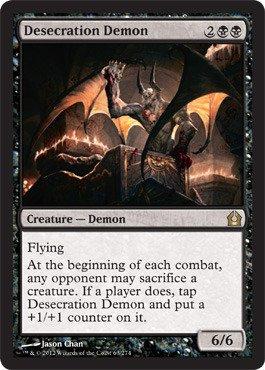 Magic: the Gathering - Desecration Demon (64) - Return to Ravnica