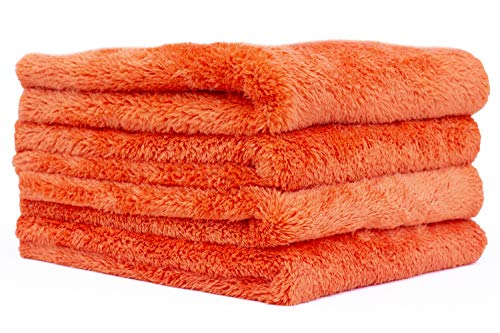 THE RAG COMPANY (4-Pack) 16 in. x 16 in. EAGLE EDGELESS 500 Professional Korean 70/30 Super Plush 500gsm Microfiber Detailing Towels (16x16, ()