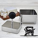 Raw Rutes - Tofu Press (Ninja) - Remove Water from Tofu OR Make Your Own Tofu or Paneer - USA Made from FDA Approved Stainless Steel