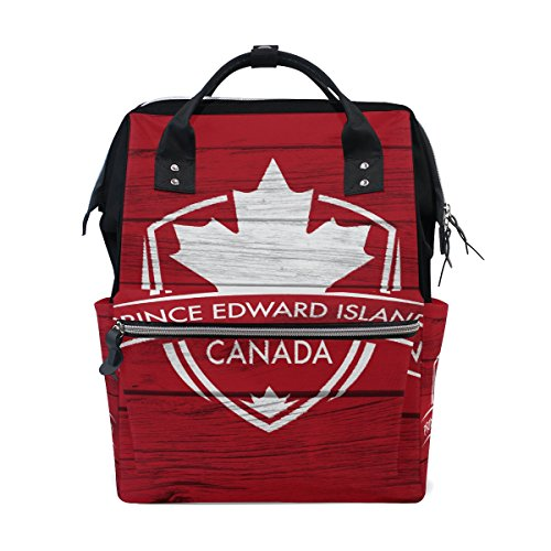 Prince Nylon Tote - Prince Edward Island Province Canada Maple Leaf Flag Mommy Bag Mother bag Travel Backpack Diaper Bag Daypack Nappy Bags for Baby Care Large Capacity
