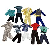 Doll Clothes, Lance Home 5sets Fashion Boy Shirts, Pants and Trousers Clothes for Barbie's Boyfriend Ken Dolls, Random Styles