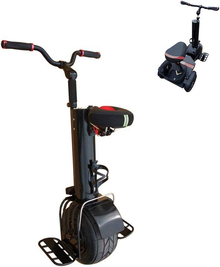 A&DW Scooter Eléctrico 2 En 1, Patinete Eléctrico para Adultos, Monociclo De 500 W con Un Neumático De Grasa, Monociclo Scooter con Asiento, Se Puede Cambiar A Un Andador De 3 Ruedas,B