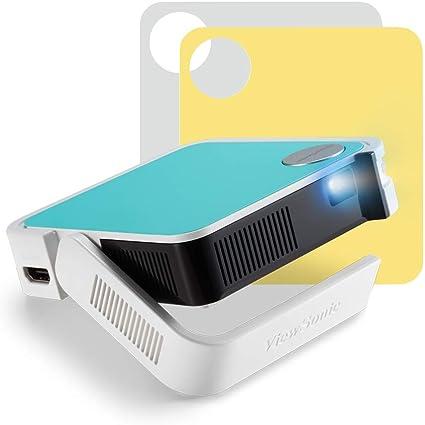 Opinión sobre ViewSonic M1 Mini Plus - Proyector LED portátil (WVGA, 120 lúmenes, HDMI, Micro USB, conexión Wi-Fi, Bluetooth, Altavoz de 2 W), Multicolor