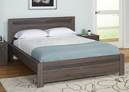 Target Marketing Systems 53000DSO Eden Bed, Dark Sonoma Oak with UV High-Gloss Gray, Queen