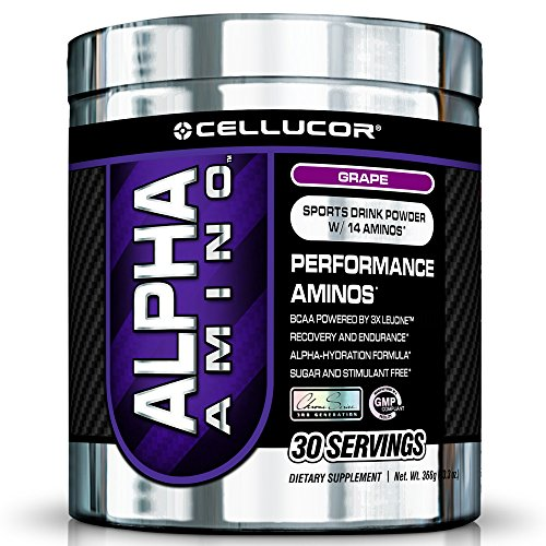 Cellucor Alpha Amino BCAA poudre hydratation raisin G3 série Chrome, comte 30