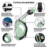 Letsport Full Face Snorkel Mask for Adults