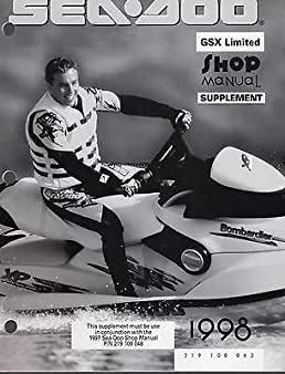 1998 sea doo gsx limited shop service manual supplement new 219 100 rh amazon com 1998 Seadoo XP Limited Specs 1997 Seadoo GSX Limited