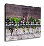 Ashley Canvas, Bottle Of Essential Oil With Herbs Holy Basil Flower Basil, Home Decoration Office, Ready to Hang, 20x25, AG4910356