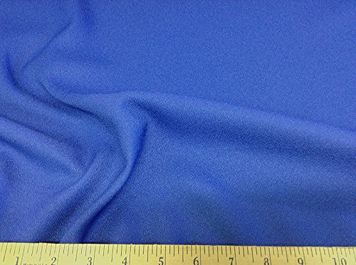 Discount Fabric Momie Weave Crepe Drapery Blue DR10