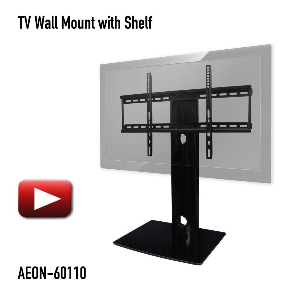 - Amazon.com: Swiveling TV Wall Mount With Shelf (Shelves): Electronics