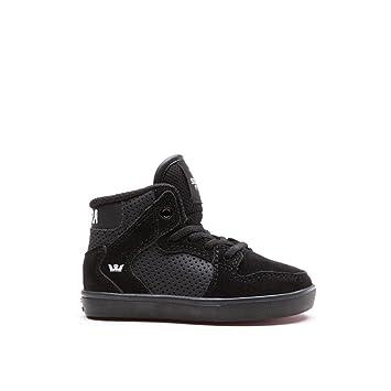 f93d3f6b5ac7 Amazon.com  Supra Vaider Skate Shoe - Toddlers  Black Suede
