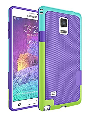 Note 4 Case, Galaxy Note 4 Case, Jeylly [3 Color] Slim Hybrid Impact Rugged Soft TPU & Hard PC Bumper Shockproof Protective Anti-slip Case Cover Shell for Samsung Galaxy Note 4 Verizon - (Cell Phone Covers For Samsung 4)