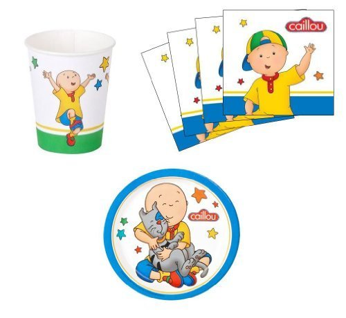 Caillou Birthday Party Supplies Set Plates Napkins Cups Kit for 16 by Party Destination