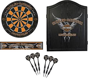 Harley Davidson 61991 Black Eagle Dartboard Cabinet Kit