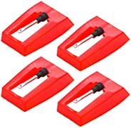 Record Player Needle, 4 Pack Universal Diamond Replacement Stylus Needle for ION iCT09RS Quick Play LP, Power