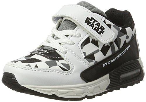 Star Wars Sw000630 - Zapatillas de casa Niños Schwarz (White/Black/Grey 005)